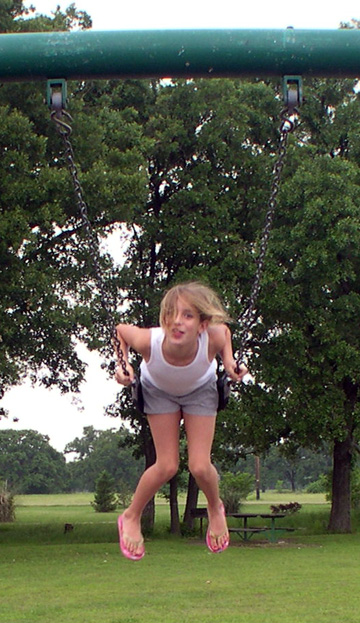 or am I falling? Neither - just swinging!